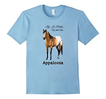 Men's Life Is Better With A Buckskin Appaloosa Horse 3XL Baby Blue