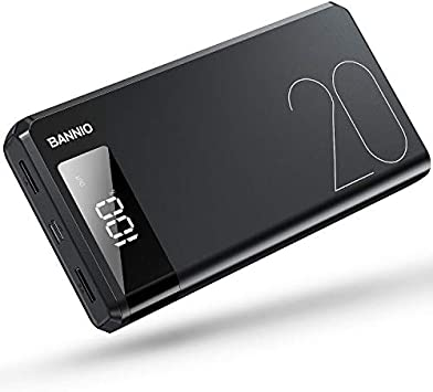 BANNIO Powerbank 20000mAh,Ultra Capacidad Bateria Externa Power ...