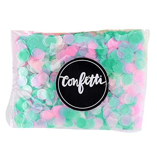 Confetti 1000 Pcs/Bag 1 cm Paper Confetti Mix Color for Wedding Birthday Party Decoration Round Tissue for Clear Balloons,mix17