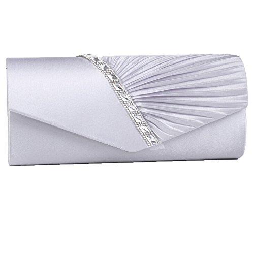 Soirée Cadeau YYwangpu Nouveau Strass Sac Sergé Femme Bandoulière Pochette Tempéré à Pour Silver La De En Sac De Mode à WXwqAA8tnd
