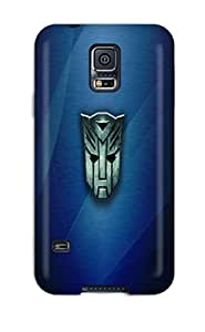 New Premium Flip Case Cover Cartoons Transformers Logos Skin Case For Galaxy S5