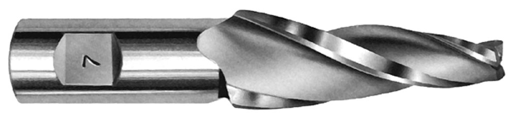 1/4'' Tip Dia. x 1'' Flute Length - Solid Carbide Tapered End Mill - 15 Degree Per Side