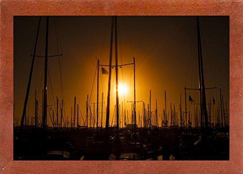 "Frame USA Mast Sunset-CHRMOY114553 Print 24""x36"" by Chris Mo"