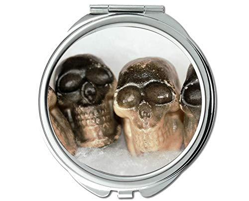 Mirror,Compact Mirror,Bone fear mystery,pocket mirror,1 X 13X -