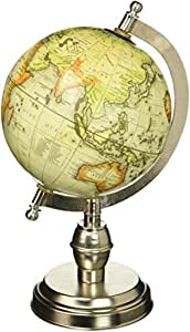IMAX 73026 Columbo Globe with Nickel-Finish Base