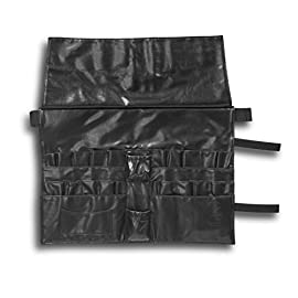RG-makeup-Tailored-For-Professionals-Brushes-Apron-Bag-w-27-Pockets-130cm-Belt-length-Quality-Black-PU-Inside-Protective-Long-Cover-9-Different-Pocket-Shapes