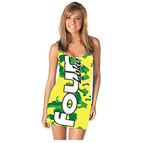 Four Loko Lemon Lime Alcoholic Drink Ladies Tank Dress Dress (Juniors Large)]()