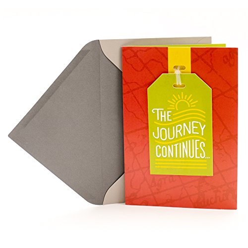 Hallmark Graduation Card with Removable Luggage Tag (The Journey Continues)
