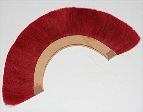 RED PLUME BLACK CREST BRUSH Natural Horse Hair For ROMAN HELMET ARMOR New Plume for Roman Centurion Officer Helmet Red Plme Armor SCA