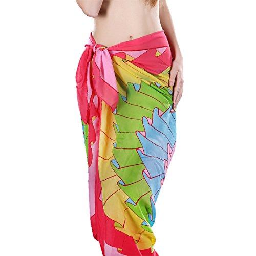 Fête des Mères Foulard Floral Des mantilles jupe gainé Drape L'écran solaire de Voyage marin Plage châle