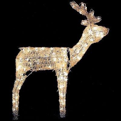 Animated 3D Standing Deer (Outdoor Deer Christmas Decorations)