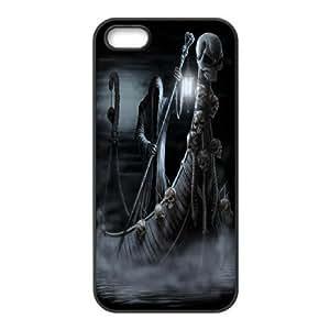 K-G-X Phone case For Apple Iphone 5 5S Cases Case-Pattern-13 Skull Art Protective Back Case
