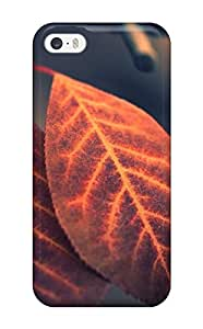 Iphone Premium Protective Hard Case For Iphone 5/5s Nice Design Two Copper Colored Leaves On A Branch