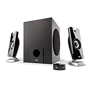 Cyber Acoustics 18W Computer Speakers with Subwoofer the Perfect 2.1 Multimedia PC and laptop Speaker System with control pod (CA-3080)