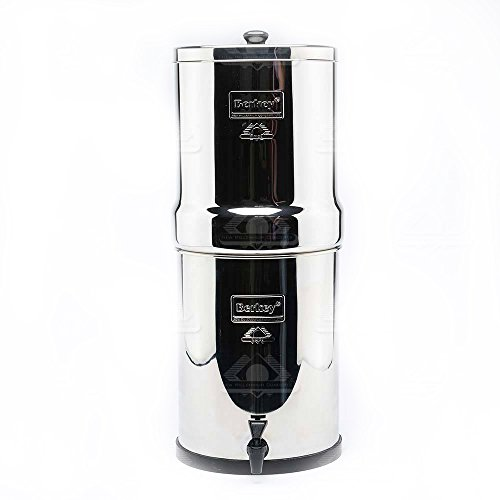 Berkey RB4X2-BB Royal Stainless Steel Branch water Filtration System with 2 Black Filter Elements