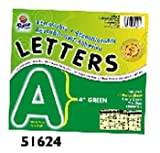 9 Pack PACON CORPORATION 4 SELF-ADHESIVE LETTERS GREEN