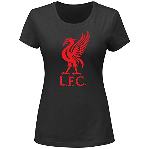 English Premiership Liverpool Football Club Women's LFC Official Logo Tee, X-Large, (Official Logo Tee)