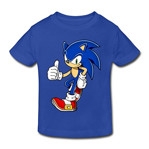 Toddler's 100% Cotton Cool Sonic The Hedgehog Fashion T-Shirt RoyalBlue US Size 3 Toddler