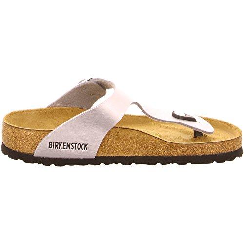Birkenstock 943831 - Sandalias de dedo para mujer Silver