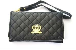 SAMSUNG GALAXY S3 Mini i8190/S4 Mini i9190 Luxury Vintage Designer Purse pouch wallet case -Tpu leather Black