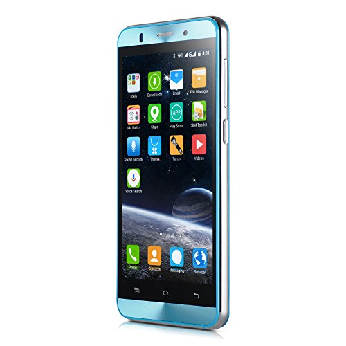 Xgody X15s Unlocked Smartphone 5 Inch Dual SIM WCDMA GSM Android 5.1 Cell Phone Quad-core Support GPS Wi-Fi Bluettoth Celulares desbloqueados Blue