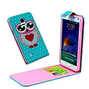 Amazon.com: Lover Heart Owl Vertical Flip Leather Full Body ...