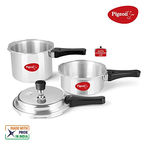 Pigeon-by-Stovekraft-Aluminium-Pressure-Cooker-Combo-2-3-Litre-Outer-Lid-with-Induction-base-silver-medium-14331
