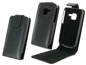 NoName - Funda con tapa para Nokia C3 (cierre magnético), color negro