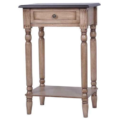 Crestview Collections Lexington 1-Drawer 2-Tone Accent Table