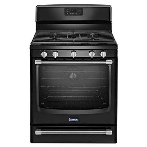 5.8 Cu. Ft. Gas Freestanding Range with Convection Oven Finish: Black...