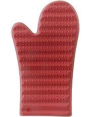 Mimo Style Luva de Silicone Vermelha, Suporta Temperaturas de Até 220ºC Sem Transferência de Calor e Sem Causar Ferimentos às Mãos, Silicone de Ótima Qualidade e Durabilidade