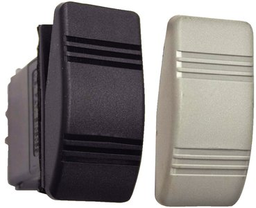 Sierra International RK19680TP Two Paddle Weather Resistant On-Off SPST Contura III Rocker Switch with Gasket, Black/Gray (Gray Marine Switch)