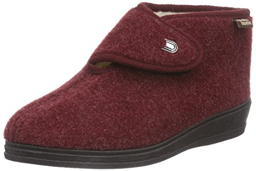 Manitu 370028, Women's Warm Lined high House Shoes Red (Rot 4)