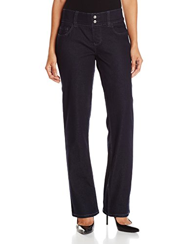 - Riders by Lee Indigo Women's Petite Pull-On Waist Smoother Straight Leg Jean, Rinse, 12 Petite