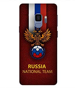 ColorKing Football Russia 16 Red shell case cover for samsung S9