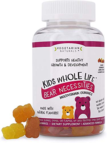 Vegetarian Naturals® Kids Whole Life™ Bear Necessities Multivitamin Gummies No Artificial Sugars, Colors, Flavors or High Fructose Corn Syrup, 60 Count
