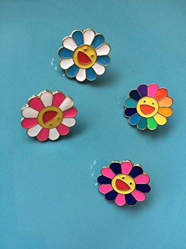 1a81d32c0 Amazon.com: Jaese Takashi Murakami Rainbow sunflowers and wind cute brooch  pin
