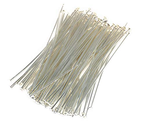 Silver Plated headpins 2 inch 21 Gauge (100) ()
