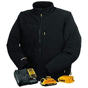 DEWALT 20V Soft Shell Heated Work Jacket with Battery Kit