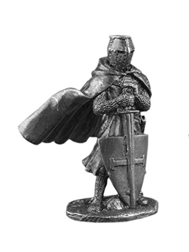 Ronin Miniatures Knight Of The Teutonic Order Middle Ages Historical UnPainted Tin Metal 54mm Action Figures Toy Soldiers Size 1/32 Scale for Home Décor Accents Collectible Figurines ITEM #Or-01