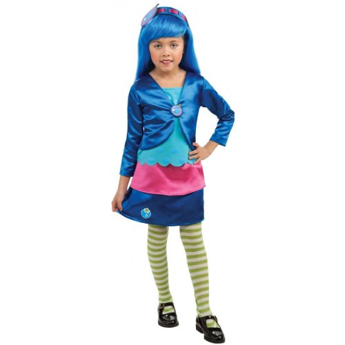 Deluxe Blueberry Muffin Costume - Medium (Girls Blueberry Muffin Wig)