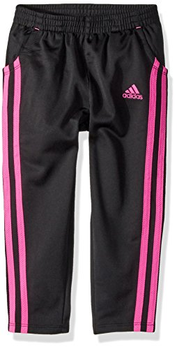 (Adidas Big Girls' Yrc Warm up Tricot Pant, Black/Pink, Medium)