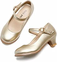 THEE BRON Dress Ballet Heels Pump Shoes for Toddler/Little Girl