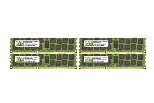 64GB (4x16GB) DDR3-1333MHz PC3-10600 ECC RDIMM 2Rx4 1.5V Registered Memory for Server/Workstation