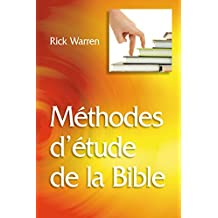 Méthodes d'étude de la Bible (French Edition)
