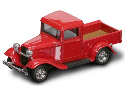 RED 1934 FORD PICK UP 1:43 ROAD SIGNATURE LUCKY DIECAST YATMING