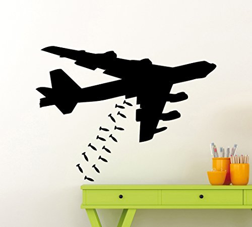 Bomber Plane Jet Airplane Fighter Wall Decal Aircraft Bomber Military (Military Aircraft Bomber)