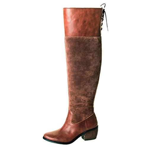 Lucky Brand Women's Komah Fashion Boot, Tobacco, 6 Medium US -