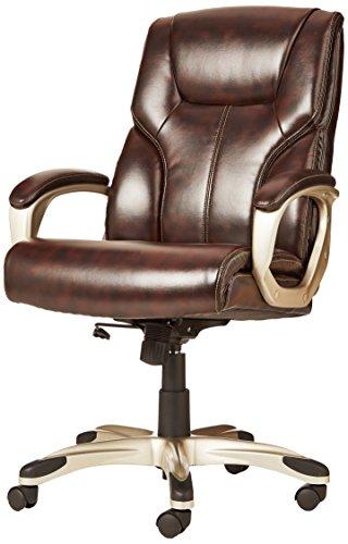 AmazonBasics High-Back Executive Swivel Chair - Brown with Pewter Finish by AmazonBasics (Image #5)