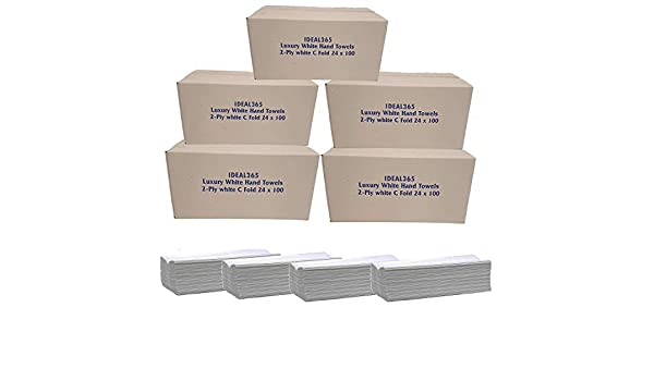Calidad De Lujo Blanco 2ply C pliegue de papel toalla de mano Multi Fold-Caja de 2400